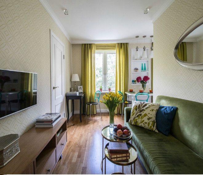 Узкая гостиная в классическом стиле