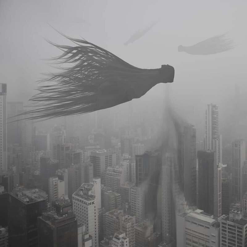 29. Это загрязнение воздуха или фестиваль голодных призраков? Томми Фанг, гонконг, забавно, талант, фантазия, фото, фотошоп, художник