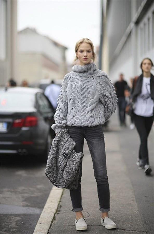 С чем носить свитер этой осенью и зимой - 12 стильных вариантов лучшее