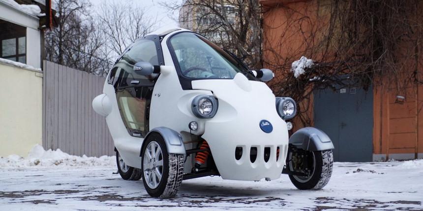 Россияне собрали трехколесный электромобиль с запасом хода 100 километров