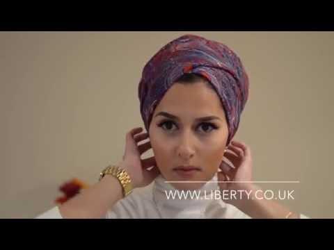 Как просто и красиво завязать тюрбан из платка!!!! красиво завязать платок на голову !!!!