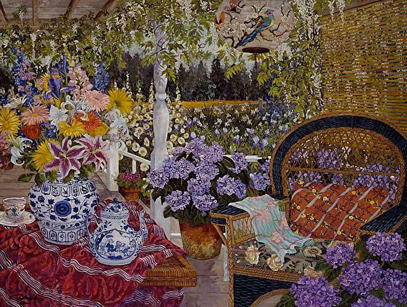 Я люблю разноцветье в саду... Художник John Powell