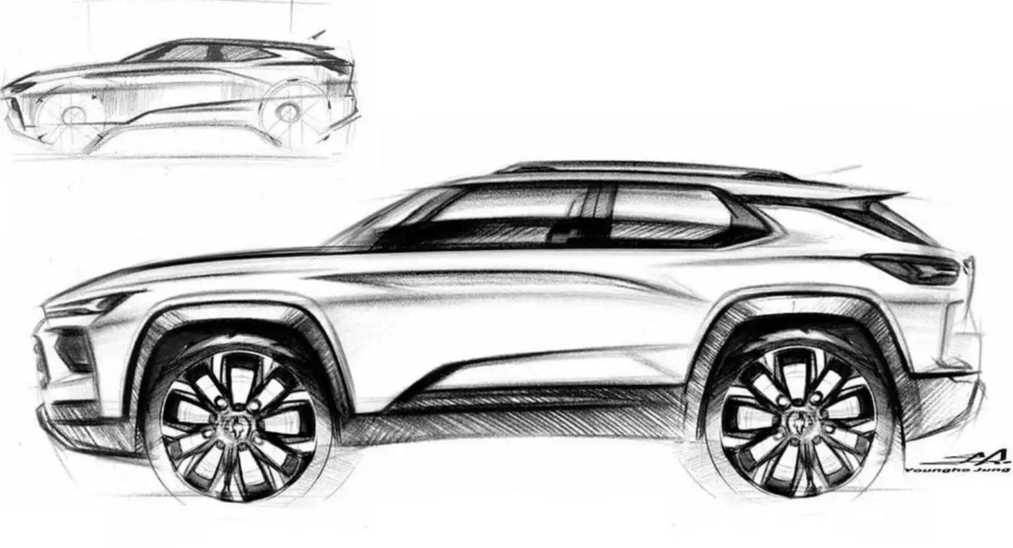 Эскиз кроссовера GM Chevy — это дистилляция современного дизайна внедорожника Автомобили