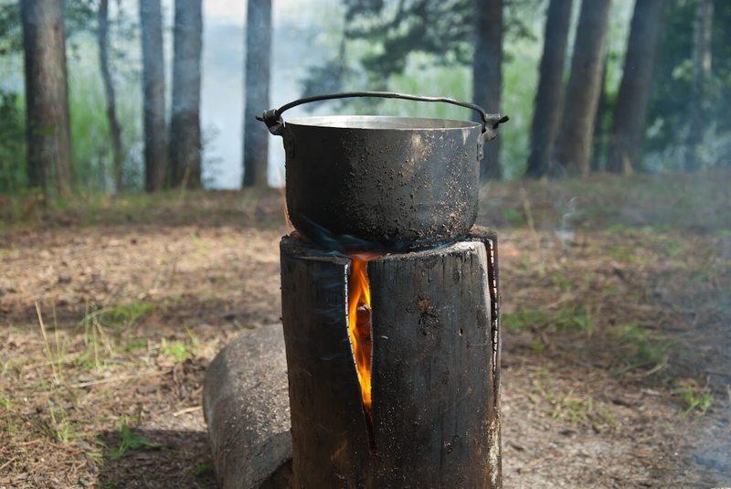 Финская свеча: самый простой очаг своими руками