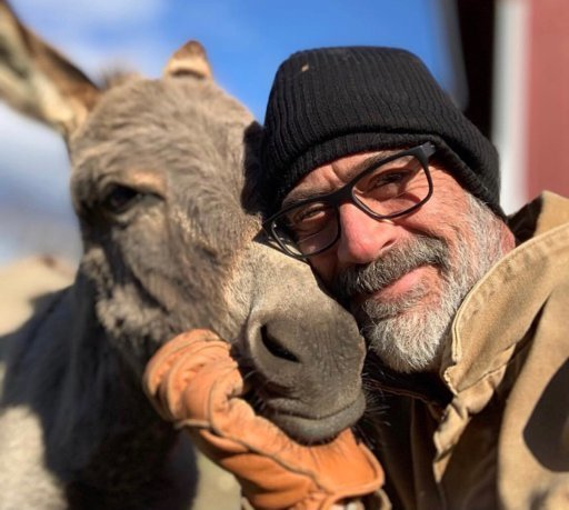 """""""Было ясно, что он любит животных, и у него сказочная ферма"""" Джеффри Дин Морган, актер, дружба, животные, осел, спасение, страус, эму"""