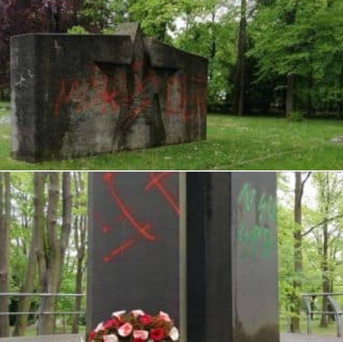 Нацисты осквернили советское воинское захоронение в Германии новости,события,политика