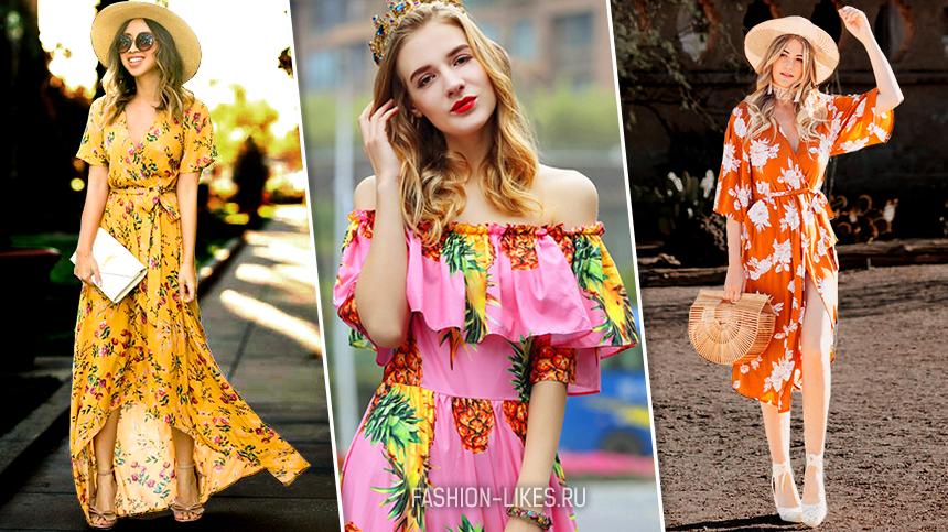 14 сногсшибательных образов в платьях с летним принтом