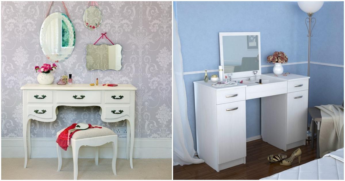 Модные идеи туалетного столика — украшение любой спальни