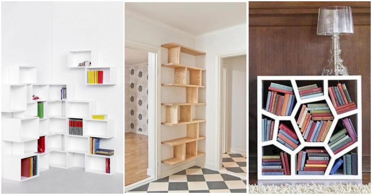 Идеи книжных полок для ограниченного пространства