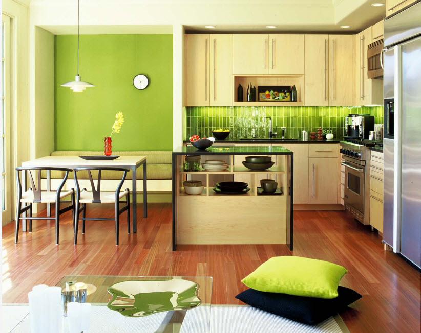 Яркая отделка кухни