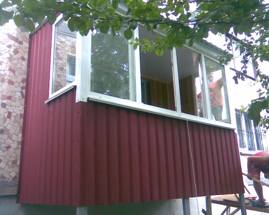 Наружная обшивка балкона - как обшить балкон снаружи.
