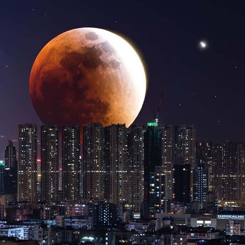 28. Самая большая кровавая луна! Томми Фанг, гонконг, забавно, талант, фантазия, фото, фотошоп, художник