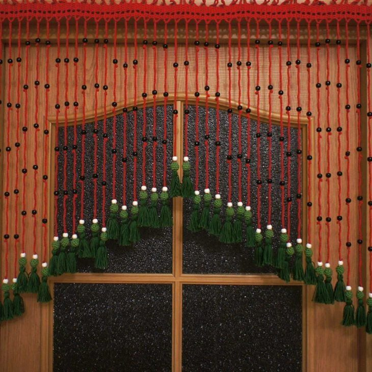 Рукодельные вязаные шторы вязание,для дома и дачи