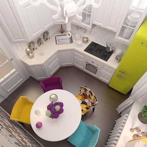 Гениальные дизайнерские решения для маленькой кухни дизайн, интерьер, маленькая кухня, полезные советы для дома, фото