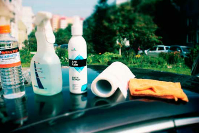 Делаем антидождь для авто за секунды из Ленора антидождь,гидрофобная поверхность,лобовое стекло,омывкайка,Тренинг
