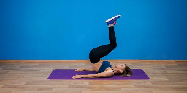 Как накачать пресс дома: 13 эффективных упражнений поднимите, корпус, медленно, упражнение, повторите, исходное, оторвите, правую, положение, левую, поясницу, затем, спину, вытяните, вверх, позвоночнику, усложнить, вдоль, назад, чтобы