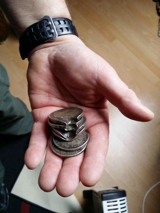 Счастливые монетки.