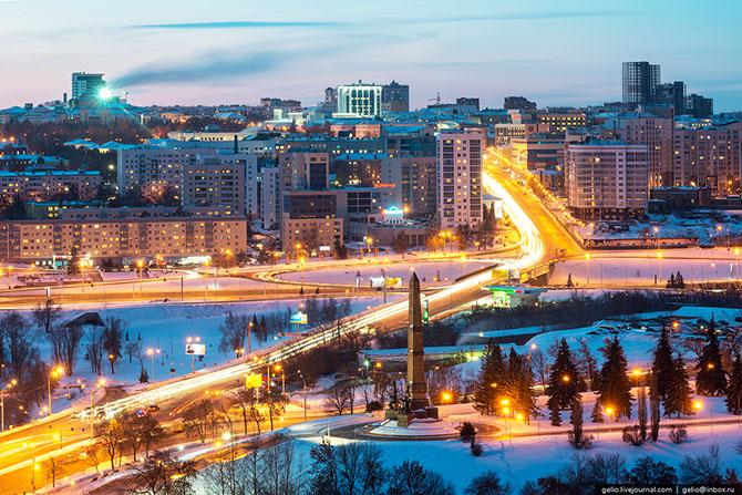 Зимняя Уфа с высоты