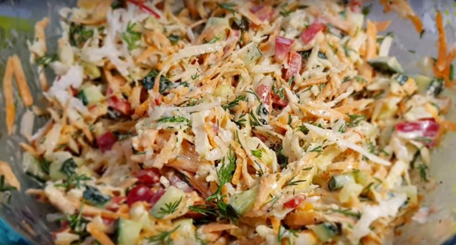"""Быстрый салат за 5 минут на каждый день """"Свежинка"""""""