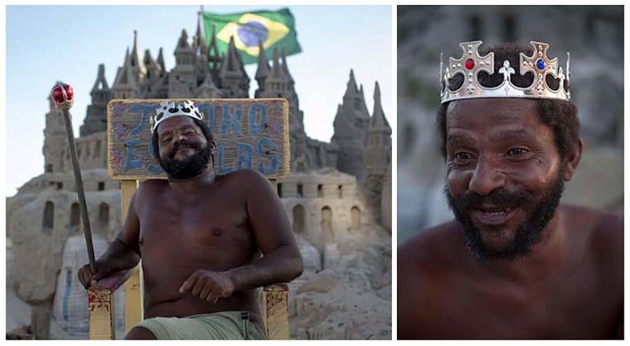 Житель Бразилии 22 года живет в замке из песка, чтобы не платить за аренду
