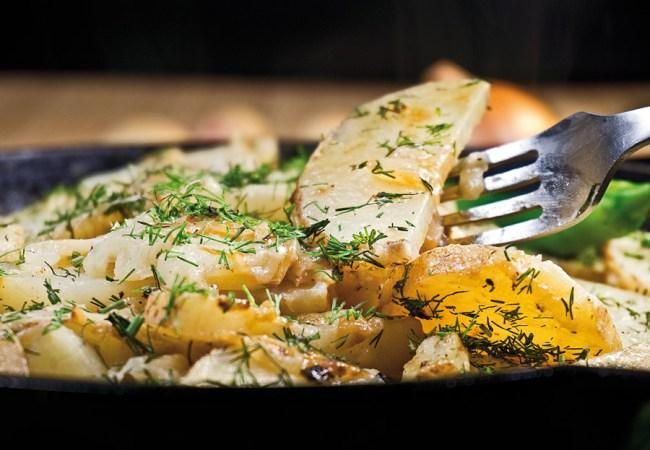 Томленый картофель с луком от www.dunduk-culinar.ru