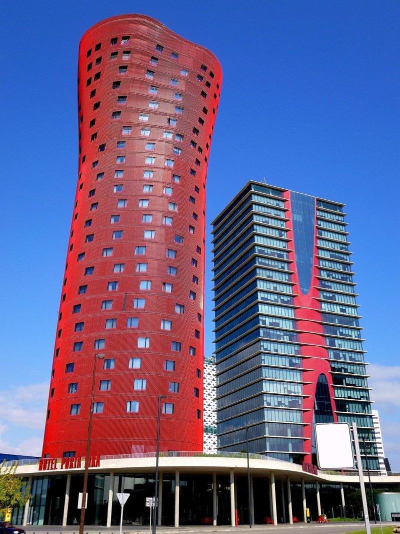 Отель Porta Fira, Барселона, Испания красота, небоскребы, самый-самый, строительство, удивительное, фантастика