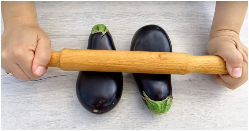 Отбиваем баклажаны скалкой: необычный подход-вкусный результат овощные блюда