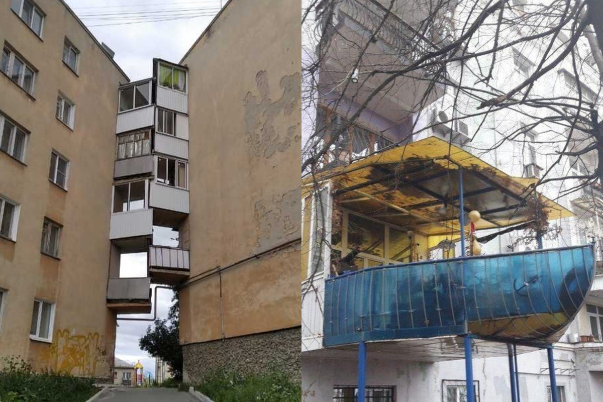 10+ смешных балконов, которые можно увидеть только в нашей стране