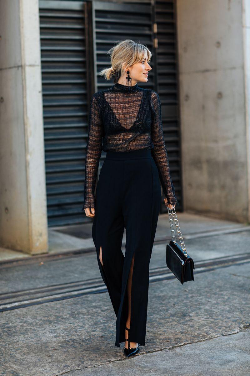 Черные блузки и рубашки с чем носить фото 1