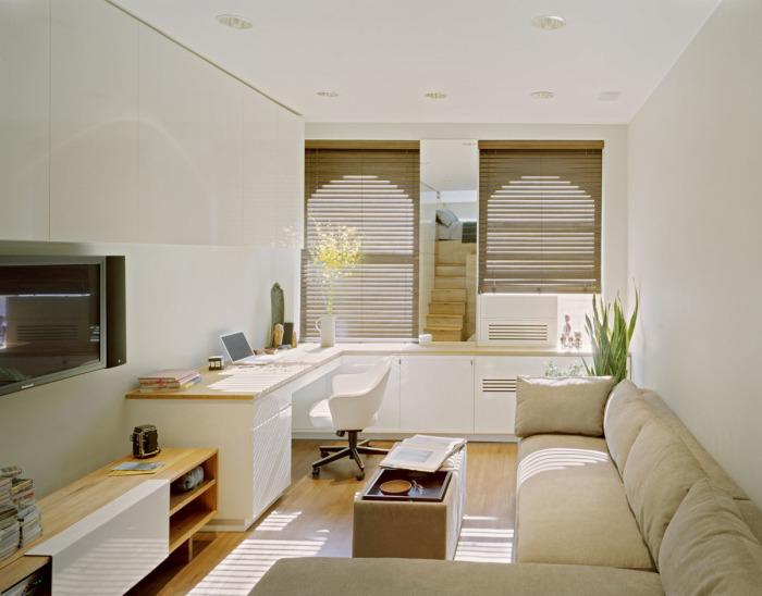 Отличная идея для экономии пространства в маленьком помещении.