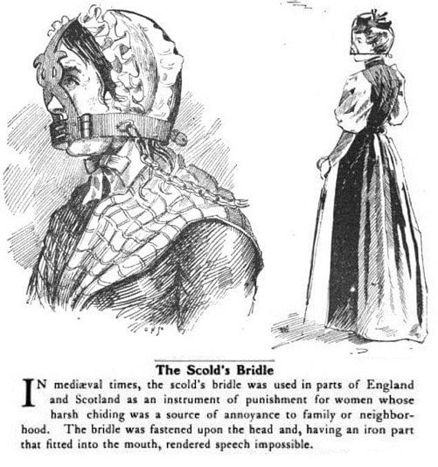 """Женщины, которые много скандалили и сплетничали, должны были носить """"маски позора"""""""