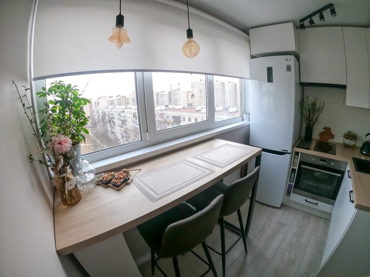 Выжали максимум из 6 квадратов кухни и результат оправдал ожидания! интерьер,кухня,ремонт,хрущовка