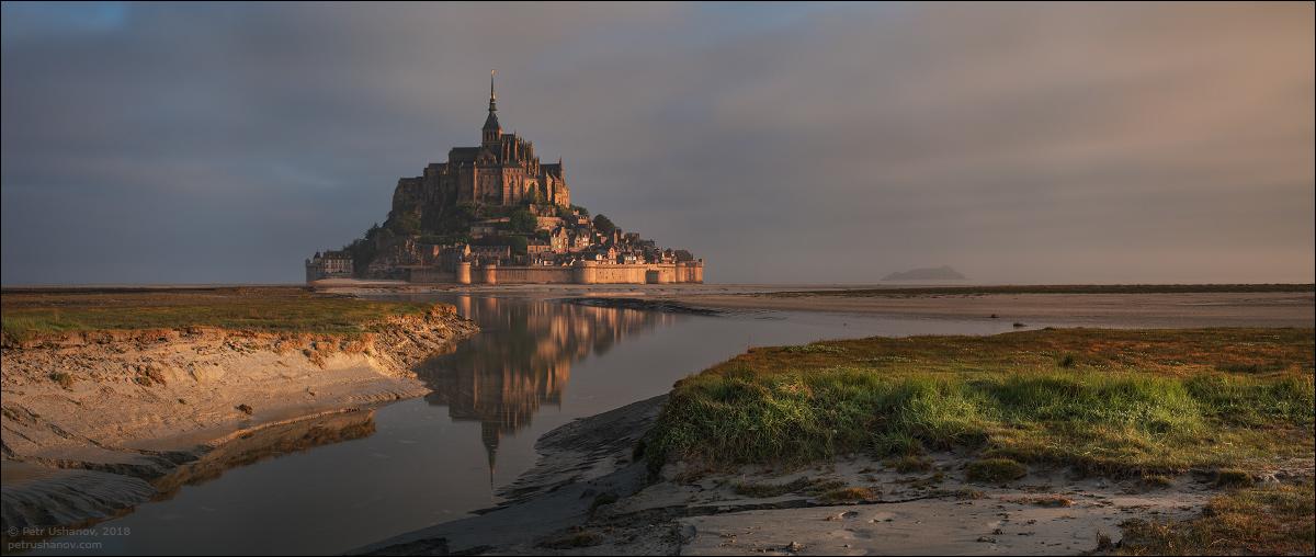 Аббатство Мон-Сен-Мишель, Нормандия, Франция