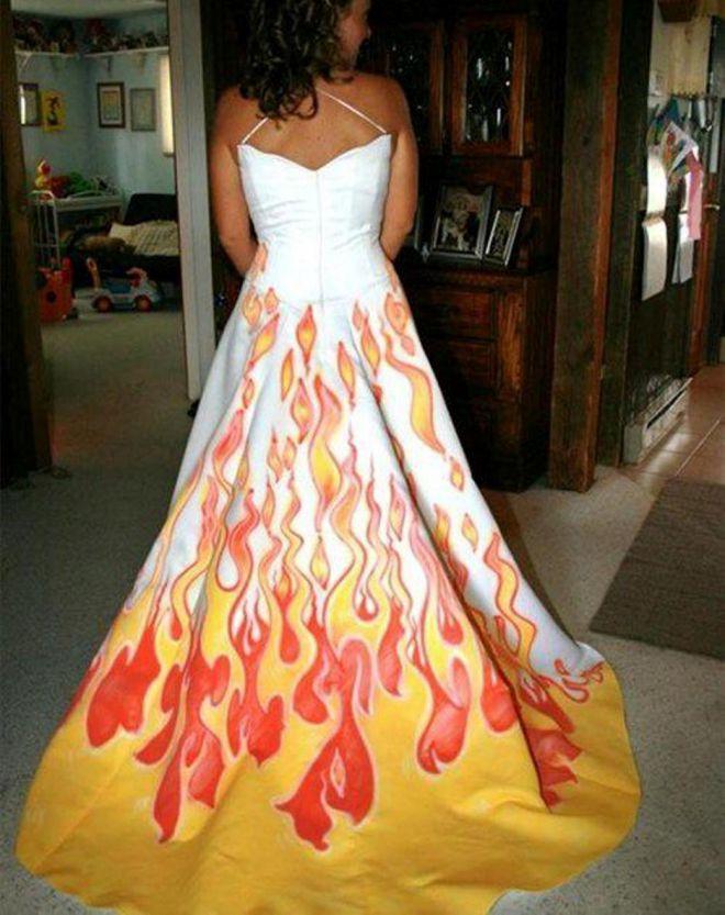 А эта невеста – вообще огонь