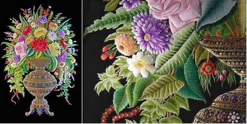 Трехмерная вышивка - работы Шейха Шамсуддина