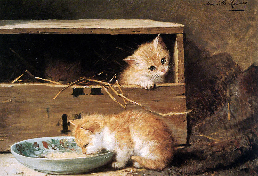 Сats in Paintings by Henriette Ronner-Knip. Purr a Little ...