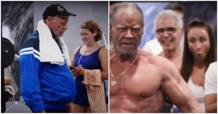 72-летний дедушка разыграл молодежь в тренажерном зале