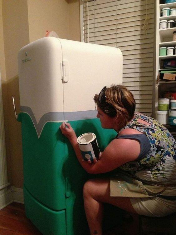 Реинкарнация старого холодильника: 15 классных идей для умельцев бытовая техника,идеи для дома,интерьер и дизайн,своими руками