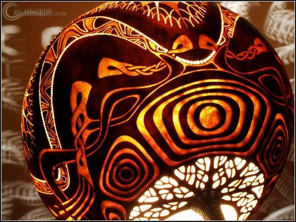 Тыква превращается... в светильник. Лампы из тыквы от Calabarte