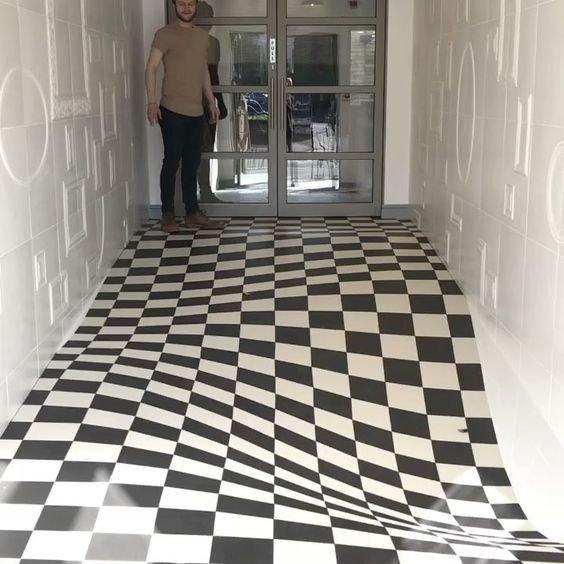 Оптическая иллюзионная плитка, разработанная Casa Ceramica инсталляции, искусство, психоделика, сломай мозг, странное, художники