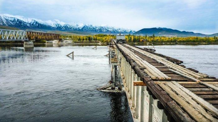 Моста больше нет. ¦Фото: ucrazy.ru.