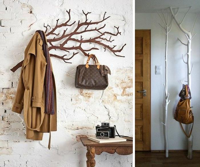 Оригинальные вешалки станут функциональным и привлекательным дополнением интерьера. / Фото: dekormyhome.ru
