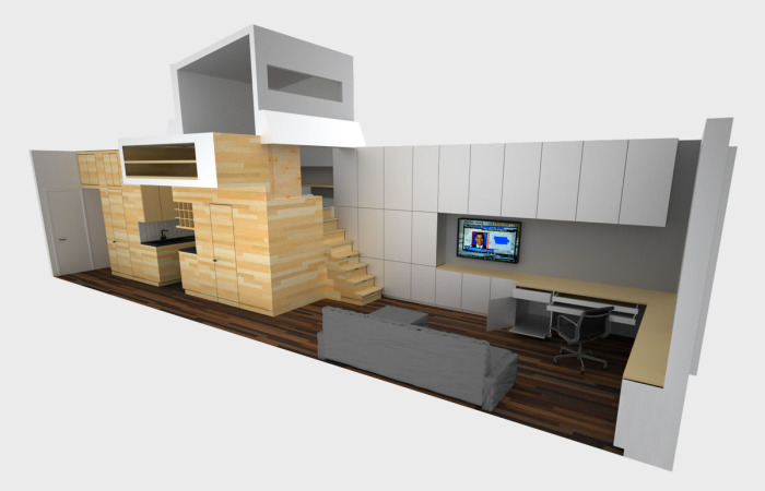 План малогабаритной квартиры в стиле минимализма.