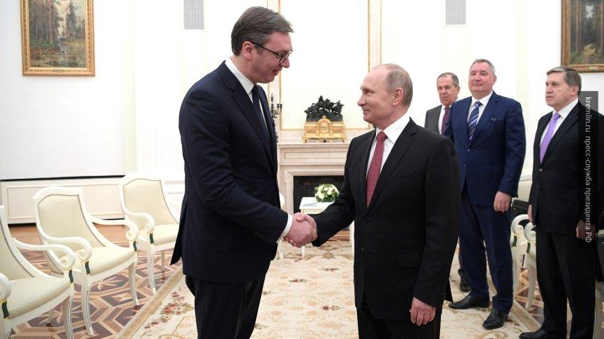 Вучич намерен попросить поддержки у Путина на международном уровне в связи с ситуацией в Косове