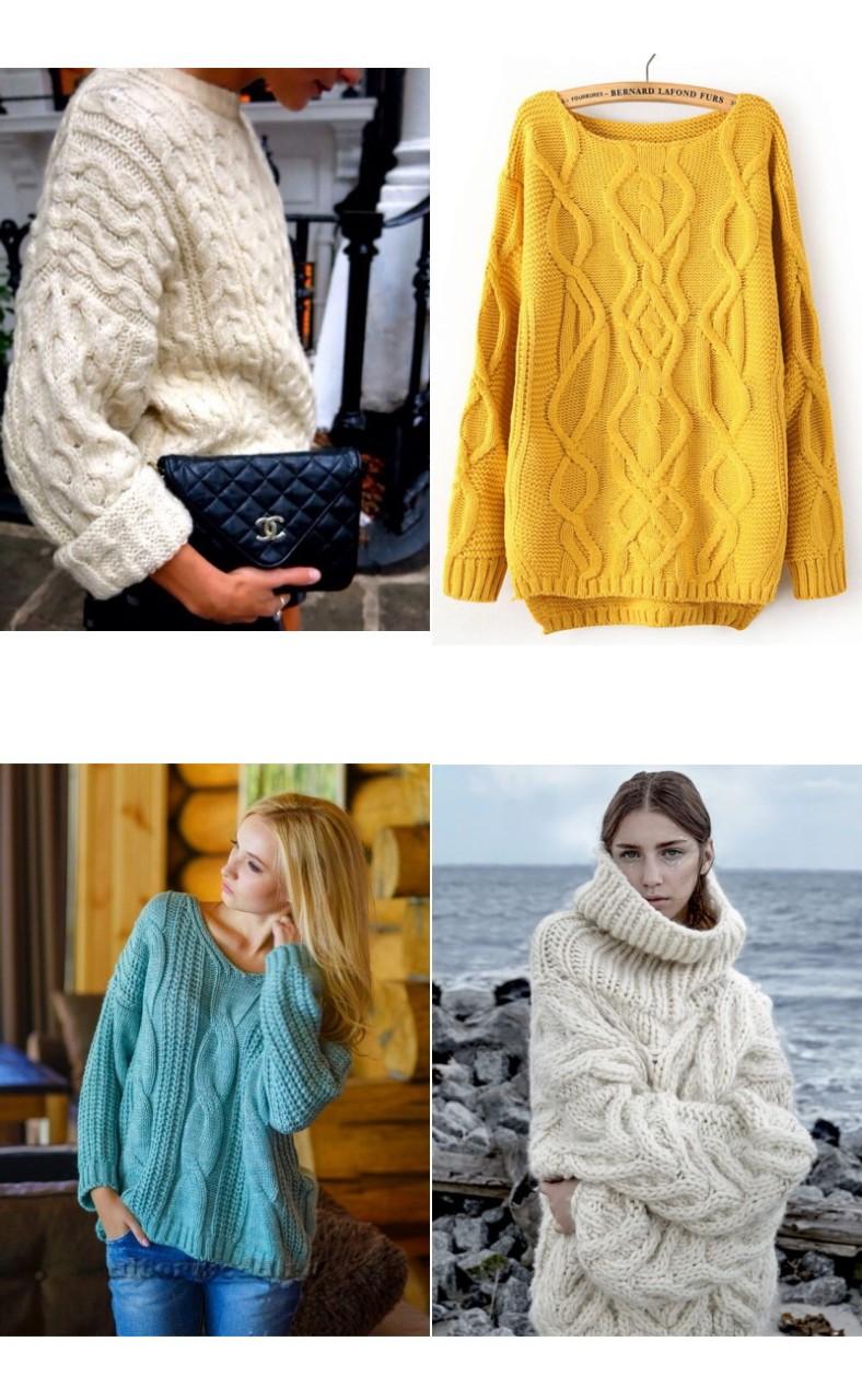 Модный свитер с косами - всегда в тренде! Выбираю какой связать