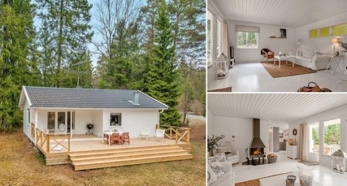 Потрясающий маленький дачный дом в Шведском лесу