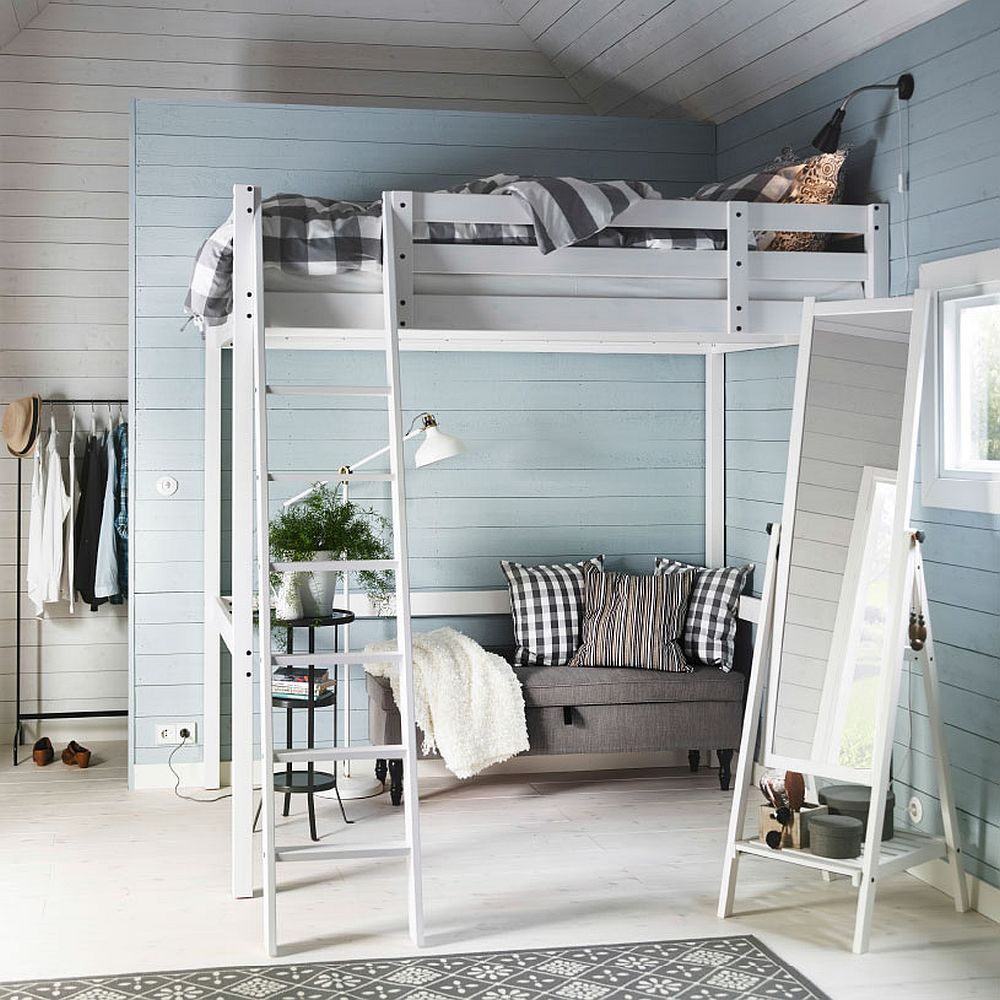 Дизайнерский интерьер небольшой спальни в скандинавском стиле