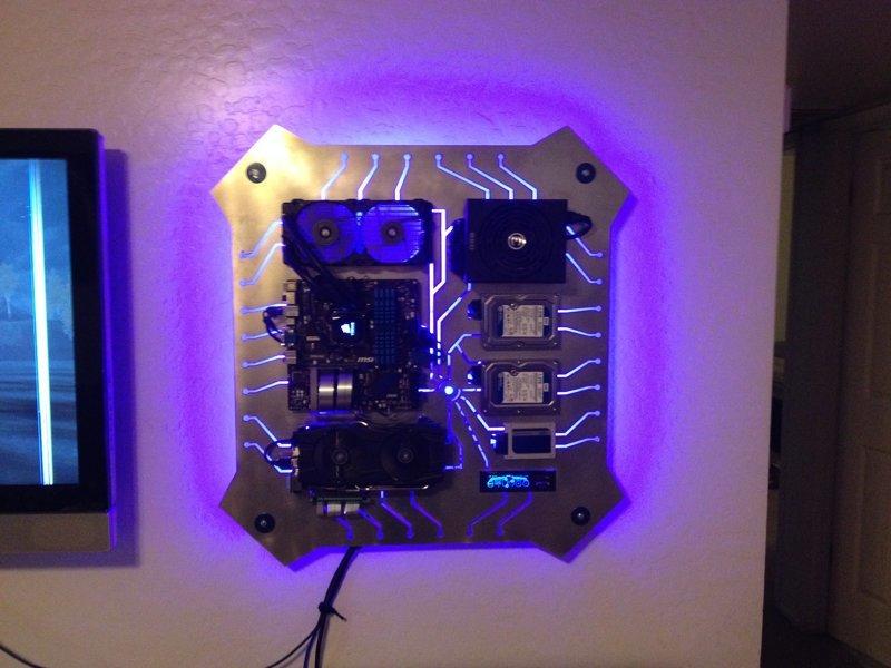 Подборка: компьютер на стене компьютер, красиво, моддинг