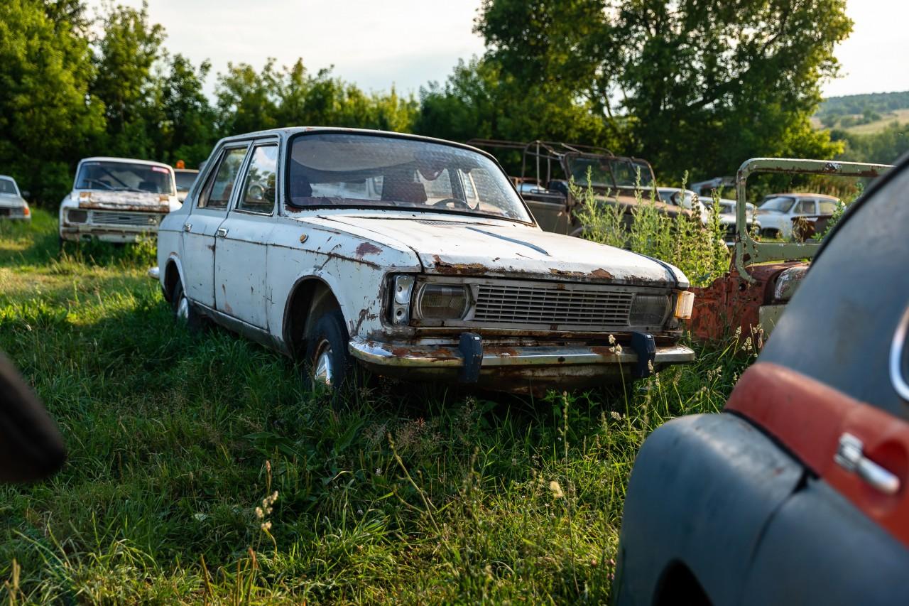 В Тульской области посреди поля гниют 330 авто