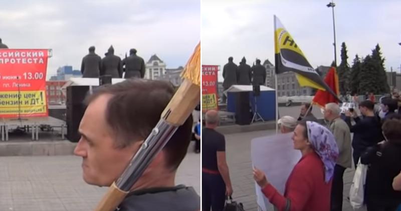 В России прошел митинг против повышения пенсионного возраста: видео